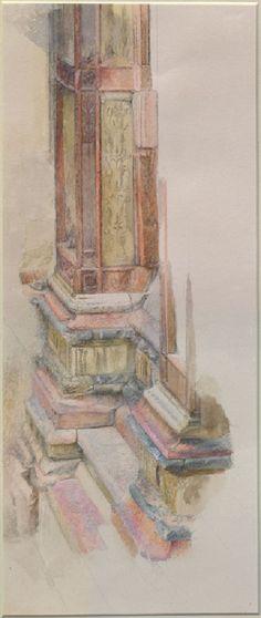 Ruskin, John - Marbles at Verona: Base of a Pilaster on the Facade of Sant' Anastasia, Verona