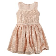 Kid Girl Sequin Glitter Tulle Dress from Carters.com. Shop clothing & accessories from a trusted name in kids, toddlers, and baby clothes.