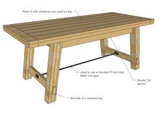 Ana White | Build a Benchright Farmhouse Table | Free and Easy DIY Project and Furniture Plans
