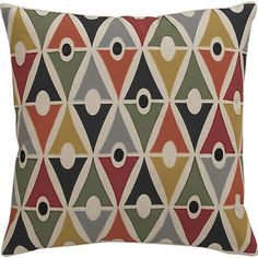 I can have some real fun with these toss pillows from Crate & Barrel!