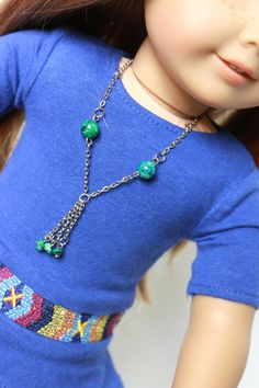 American Girl Doll - Southwestern Green Jewelry -- Necklace and Bracelet (Fits Most 18 inch dolls))