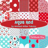 Aqua Red by Michael Miller Fabrics  Got something in mind for Madi with these colors.