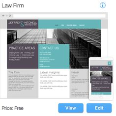 Law Firm Website Template No Coding Needed. Complete Design Control.