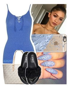 """"""";drug that i'm hooked to but it's okay, i'll be alright"""" by lamamig ❤ liked on Polyvore featuring Etcetera, Casetify, Topshop, MICHAEL Michael Kors and Puma"""