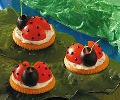 Lady Bugs On Crackers