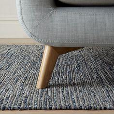 Buy John Lewis The Basics Soft Weave Rug, Blue/Grey Online at johnlewis.com