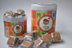 Pote com mini brownies. Visite nosso site http://www.giveagift.com.br/