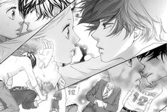 Most popular tags for this image include: ao haru ride, manga, couple, cute and kiss