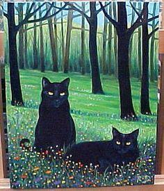 Black Cat Art, Black Cats, Frida Art, Cat Posters, Cat Boarding, Animal Sketches, Cat Drawing, Crazy Cats, Cool Cats