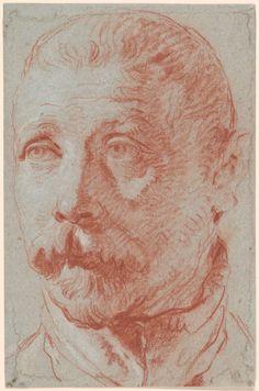 Giovanni Battista Tiepolo | 1696-1770 | Study after Alessandro Vittoria's Bust of Jacopo Palma il Giovane | The Morgan Library & Museum