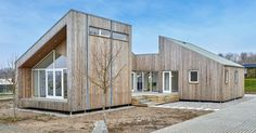 The modular home is built from materials upcycled from agricultural waste like grass, hay, and tomato stems.