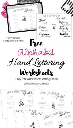 Beginners Hand Lettering Alphabet Worksheets - Hand Lettering Fonts Alphabet #handlettering #ipadlettering Hand Lettering For Beginners, Hand Lettering Practice, Hand Lettering Alphabet, Alphabet Worksheets, Finding Yourself, Free