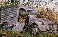Dick Twinney -  The Resting Place ~ Fox & 1950s 2CV Van