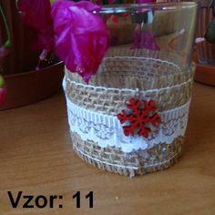 Sklenený svietnik Jarko - Sviečka - Bez sviečky, Vzor - Vzor 11