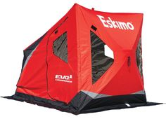 Eskimo Evo 22100 Portable Flip Style Ice Shelter with Pop Up Hub Sides, Ice Fishing Gear, Fishing Rods And Reels, Fishing Stuff, Winter Fishing, Evo, Crossover, Shelter, Outdoor Gear, Sports
