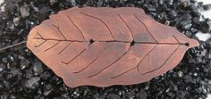 Large Copper Leaf Brooch - Hydrangea Leaf £20.00