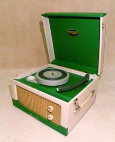 Vintage 1960s 'Dansette' record player, fully restored. Ebay UK auction ending 4th March. www.ebay.co.uk/...