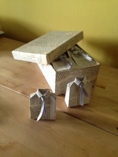 Origami Shirt Box With Tie2