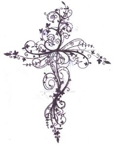 Cross Tattoo Design By ZanieLArch On DeviantART Feminine Cross Tattoos For Women