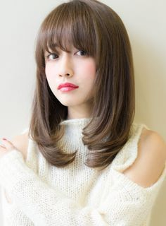 柔らか上品ワンカール(髪型ミディアム)
