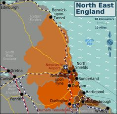 To those that know the North East, there is a wealth of beauty unspoilt by large numbers of visitors. The county of Northumberland is dotted with beautiful historic towns such as Berwick on the Scottish border, Alnwick and Hexham. Penrith, North East England, Middlesbrough, North Sea, Sunderland, Durham, Newcastle, Edinburgh, Yorkshire