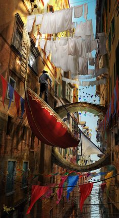 "steampunktendencies: "" Floating thru Venice by Mirsad Agic """