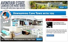 Every week one thing you don't want to miss.  A new place, an event you didn't expect, and much more.   www.capetownmagazine.com/subscribe  It's free and goes to 41 000 people weekly.
