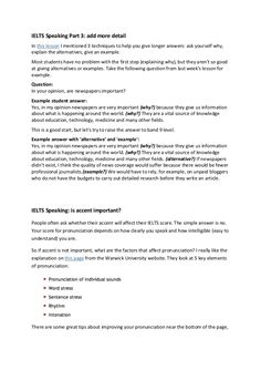 IELTS Speaking Part add more detail In this lesson I mentioned 3 techniques to help you give longer answers: ask yourself why, explain the alternatives, giv… Cue Cards, Ielts Writing, English Vocabulary, Study Tips, First Step, Student, This Or That Questions, Ideas, College Tips