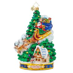 Christopher Radko Ornaments 2015 | Radko Midnight Arrival Ornament