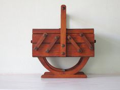 French Art Deco Wooden Expandable Sewing Box by Decofanatique