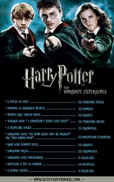 Expecto Patronum! You Can Be Fit & Nerdy! Netflix TV Workouts, TV Workout Games