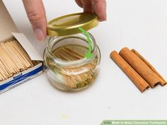 How to Make Cinnamon Toothpicks: 9 Steps (with Pictures) - wikiHow Cinnamon Toothpicks, Flavored Toothpicks, Cinnamon Candy, Cinnamon Recipes, Cinnamon Extract, Cinnamon Oil, How To Make Homemade, Food To Make, Spice Shelf