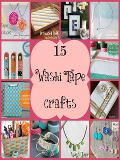 15 Washi Tape Crafts