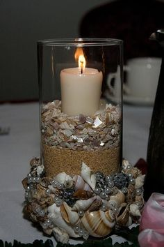 My Seashell Wedding Centerpiece