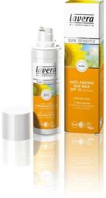 lavera Anti-Age Sun Cream SPF 15 - The formula contains organic pomegranate oil, leaving skin feeling firmer. Ideal for the face, neck and shoulders, and is immediately effective upon application. Organic Beauty, Organic Skin Care, Natural Skin Care, Organic Food Online, Crema Solar, Pomegranate Seed Oil, Natural Sunscreen, Anti Aging Cream, Bio