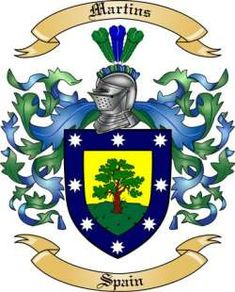 Martins Family Crest from Spain