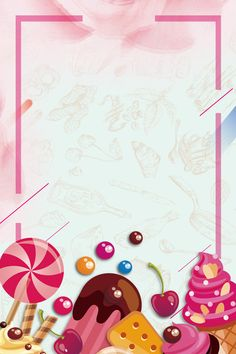 Cake Background, Cartoon Background, Background Patterns, Baking Wallpaper, Cake Wallpaper, Candy Theme Birthday Party, Candy Party, Candyland, Food Poster Design