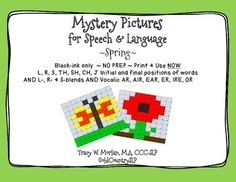 4600 words on FUN worksheets to use for therapy OR homework!  NO PREP-simply print and use. Included are two different mystery pictures (a Flower and a butterfly). This packet features 14 initial and final consonant sounds used in each picture PLUS S-, R- and L-blends AND Vocalic AR, AIR, EAR, ER, IRE, OR (for a total of 46 sounds/pages) as listed on page three.