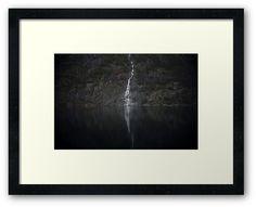 Framed Print Waterfall (The Unknown) by josemanuelerre