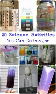 So many fun ways to experiment in a jar!