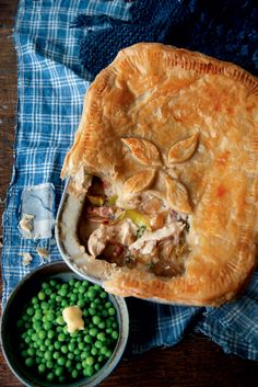 This creamy chicken pie recipe with leeks, bacon and thyme is a hearty classic. The recipe is enough to make two pies – one to eat now and one to fr