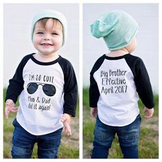 Second Baby Announcements, Pregnancy Announcement Shirt, Baby Number 2 Announcement, Second Child Announcement, T Shirt Body, Dog Shirt, Big Brother Announcement Shirt, Papa Baby, Baby Boy