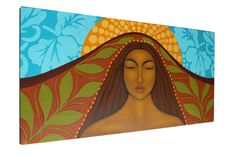 Original Acrylic Painting Mother Earth Goddess by goddessgallery