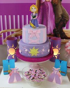 Fantastic cake at a Rapunzel birthday party!  See more party planning ideas at CatchMyParty.com!
