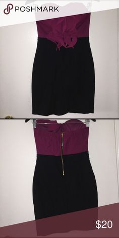 Strapless Bodycon Dress Never worn. Zipper back closure with very stretch material Dresses Strapless