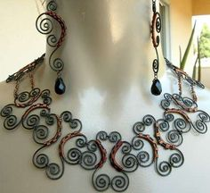 Steel Wire Jewelry - Victor Allen's Beautifully Wired Lynx Collection (GALLERY)