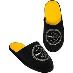 Pittsburgh Steelers Ladies Team Color Jeweled Slippers