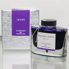Iroshizuku Fountain Pen / Calligraphy Ink - Murasaki-shikibu translates to Japanese Beauty Berry. A high quality bottled ink. Purple Japanese Ink by Pilot