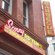 Sonny Bryan's, Dallas, TX No Central Texas 'cue hound will admit that Dallas has decent barbecue, but the brisket, sausage, and pork ribs found at the diminutive original location of a small chain establishment have a deep smoky flavor, and tell tale smoke-ring of correctly done barbecue. Note to groups: seating, in antique schoolhouse desks around the perimeter of the small room, can be antisocial.  2202 Inwood Road, Dallas, TX; 214/357-7120; sonnybryans.com
