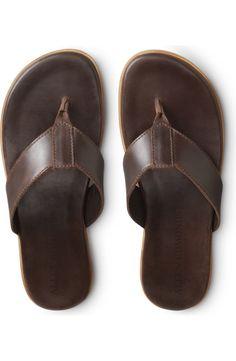 Burberry Men, Gucci Men, Men Beach, Beach Guys, Tom Ford Men, Leather Flip Flops, Allen Edmonds, Flip Flop Shoes, How To Make Shoes